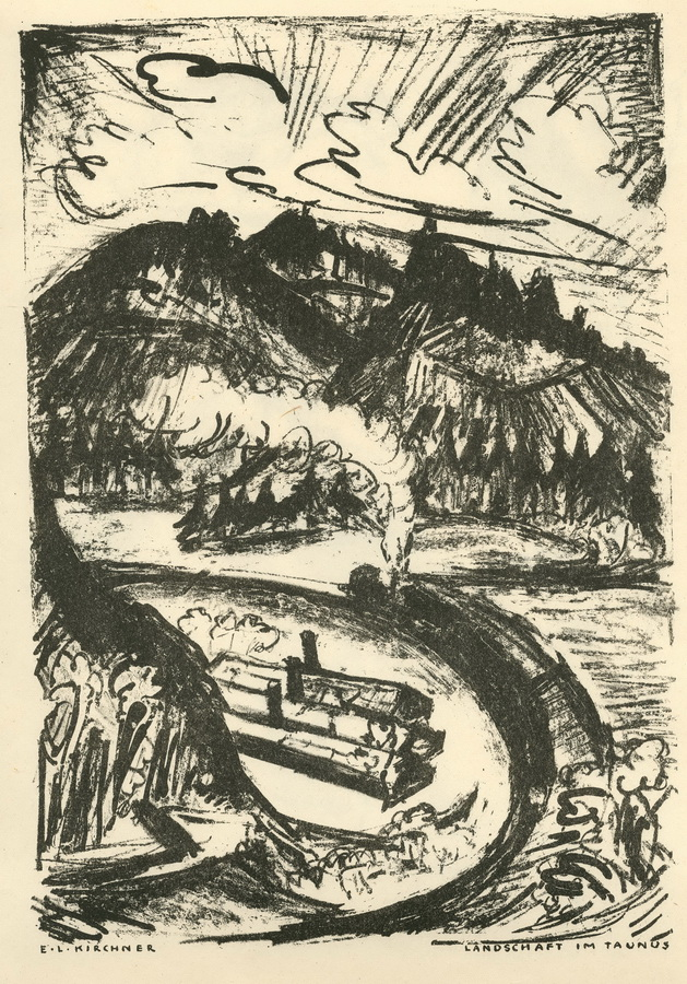 KIRCHNER, ERNST LUDWIG, 1880 Aschaffenburg - 1938 Frauenkirch/Davos